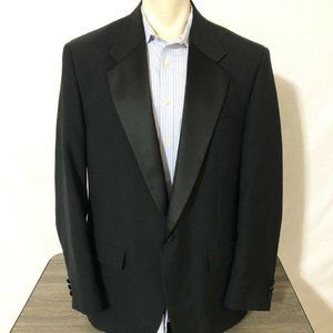 AFTER SIX  Black Satin Sea with Satin Stripes Men